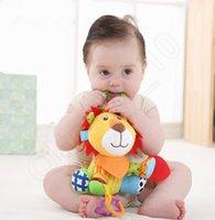 baby comforters wholesale - Cartoon Animal Kids Toys Sozzy Lion Owl Shape Comforter Toys Infant Baby Educational Toys Room Decoration LJJQ295