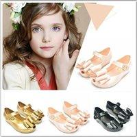 2016 nouveau style Mini Melissa Baby Girls Jelly sandales bébé mignon de bande dessinée Toe Shoes sandales de plage Slipper 3 Style pour chioce