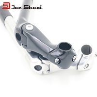 Wholesale Good Quality Black and Silver Aluminum Alloy Mountain Bike Stem Fork Suit For Folding Bicycle Tube Short Stem Headset Cap Bar