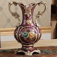 antique vases - European antique vase Home Furnishing Decor modern minimalist fashion fashion floral decoration crafts room table