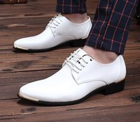 best casual dress shoes - Best selling PU leather white groom wedding shoes men s casual shoes dress shoes liqinghui2011