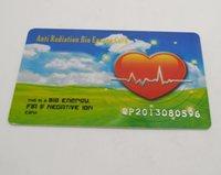 al por mayor far-infrared radiation-El envío al por mayor-libre 20pcs / Diseño de tarjeta de iones negativos tarjeta de iones pegatina mucho corazón Bio tarjeta escalar de la energía de rayos infrarrojos lejanos contra la radiación