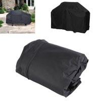 Wholesale Universal Outdoor Waterproof Rain BBQ Cover Garden Gas Charcoal Electric Barbeque Grill Protective Cover X61X117cm Black