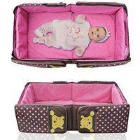 Wholesale 2016 New arrival hot folding and portable baby bed fashion mummy bag nappy bag washable multifunction for new born baby