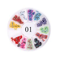 Wholesale Many Styles Wheel Charms For D Nails Art Decorations Fruit Animal Beads Metal Plant Many Shapes Colors DIY Nail Tips Stickers