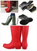 Wholesale 2016 New Brand Women Wellies Rainboots Waterproof boots H unter wellies over knee boots rain boots rainshoes Muti color rain boots women Hot