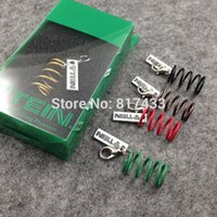 Wholesale 5 colors zinc alloy Tein Suspension S Tech Green Spring Key Chain Keychain fashion pendant tuning keyholder
