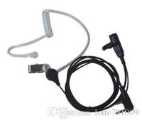 Wholesale New Hot Sale Pin PTT MIC Air Tube Ear Hook Earpiece Headset for Walkie Talkie for WOUXUN HYT TYT KENWOOD ICOM YAESU BAOFENG MOTO Radio