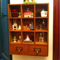 Wholesale Wooden Storage Cabinet With Drawers For Drinkware Or Cosmetics CM
