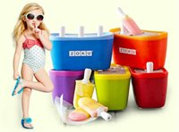 Wholesale Zoku Quick Pop Maker ZOKU Slush pounds Shake Maker The authentic Home made ice Cream Tools ice creammaker creative cup DHL drop ship