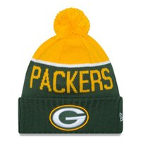 Wholesale Popular fashion Football team TEAM PACKERS Street hip hop skateboard knitted hat ball cap jacquard wool hat men and women