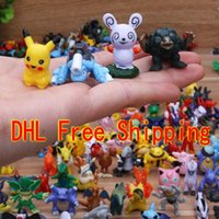 Wholesale Poke Action Figures Monster Toys for Child cm Doll Little Figurine Toy Pokémon Go Game Small Classic Pikachu DHL Factory