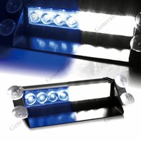 SMD Bulbs 8W 12V DC12V 8 Led Car Police Strobe Flash Light Dash Emergency Warning 3 Flashing Lamp Blue White Daytime Running Lights