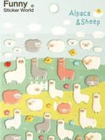 alpaca fashion - Korea Creative cute Alpaca Sheep D PVC sticker Multifunction DIY Mobilephone Sticker Decoration Fashion dandys