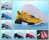 Cheap 2016 NMD Human Race Pharrell Williams X Sneaker Women And Mens Running Sport Shoes Red Yellow Pink Shoes Size 36-44