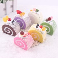 Wholesale 24pcs Christmas squishy cake refrigerator magnets cm food squishies Party Favor gift MIX COLOR squishy packages toy kitchen