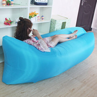 Wholesale Outdoor air bed inflatable sofa amphibious portable air sofa Kenneth sleeping bag beanbag sofa leisure beach only seconds fast start and