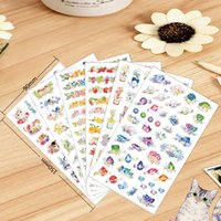 Wholesale 72 Garden Flowers sticker Cat bird fruit stickers PET decoration tape for scrapbooking Stationery School supplies