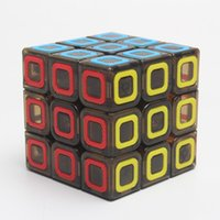 Wholesale Qiyi Cubes Yj Moyu Transparent Black Magic Cube x3x3 Speed Puzzle Special Toys Stickerless Speed Puzzle Cube Educational Toy