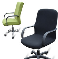 arm head office - Chair covers for the conference head chair covers arms rotation computer Home Office Color Polyester Spandex chair covered