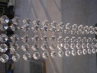 Wholesale mm crystal octagon bead strand curtain M Crystal garland Strands Wedding Christmas crystal bead chain