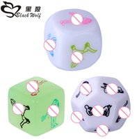 adult dice games - Black Wolf set Funny Sex Dice positions Sexy Romantic Love Gambling Adult Games Erotic Craps tube sex toys for couples