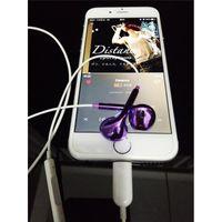 audio wire connector - Lightning Headphones Cell Phone Lightning Earphones Music Lightning Connector Digital Audio Headphone HiFi Speakers