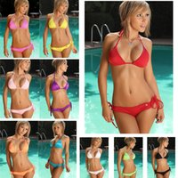 Wholesale Brand New Sexy two pieces free size women bikini bathing spa beach suit lady fashion swim suits