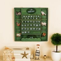 army ornaments - zakka Nian Mediterranean creative home can manually army green wood ornaments Calendar Calendar ornaments
