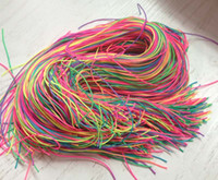 Wholesale 1000 cm Length Colorful Extra Strings Kids Toys Accessories Braided Nylon String for Kendama Holder Rainbow Rope Pendant Straps
