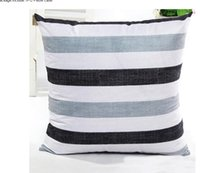 Wholesale 45cm cm decorative striped Cushion Cover Home Decor Pillow Case Cotton Linen Sofa Pillowcovers quality first