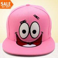 Wholesale Character Patrick - 2016 Newest Cartoon Snapback Patrick Caps Men And Women Pink Nicklodeon Hats Popular Baseball Caps Free Shipping On Sale