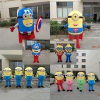 Costume film fatto su misura Despicable Me Minion mascotte del fumetto giallo per adulti per Halloween e la festa di Natale