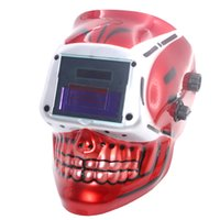 Wholesale Red Skull AAA battery Solar auto darkening TIG MIG MMA plasma welding mask helmets face mask weld goggles eye protection goggles