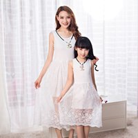 authentic wholesale clothing - Authentic Mother Daughter Dresses Striped Dress for Girls and Women Summer Cotton Dress Girls Vestidos Family Clothing