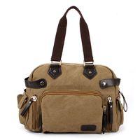 best travel briefcase - Best Selling Male Leisure Satchel Briefcase Tote Men Shoulder Messenger Bag Travel Handbag Durable Canvas Crossbody Bags ZA0210 smileseller