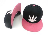 Wholesale Baseball Hat Hip hop Rasta Leaf Pot Flat Pop Bill Snapback Baseball Cap