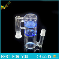 ash fashion - New fashion mm mm Honeycomb and whirlpool Glass Ash Catcher Bubbler Glass water Pipe Crystal Clear Percolator Ashcatcher Glass Hookah
