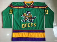 Wholesale Mighty Ducks Jersey Gordon Bombay Charlie Conway Adam Banks Hockey Jersey The Mighty Ducks Of Anaheim Men Movie Jersey Green S XL