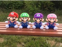 Wholesale 4Colors CM Super Mario Bros Plush Toys Marie Luigi Soft Stuffed Dolls Children Gifts Carton Toys epacket