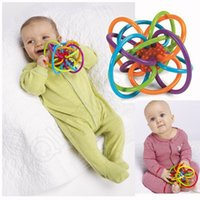 babies tank toys - LJJG349 cm Manhattan Toy Winkel Teethers Rattle And Sensory Teether Activity Rings Baby Feeder Silicone Teething Toys Baby Teeth Ball