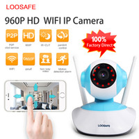 Wholesale LOOSAFE LS WI HD P mm Focal Length Blue Day and Night Alarm Pushing Remote Control Wireless Security CCTV IP Camera