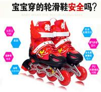 adjustable inline skate - Genuine dynamic new skates adjustable children s full suite full flash inline skates roller skates for men and women