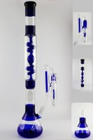 big blue parts - 22 quot Big Blue Dismountable Bong with two parts COIL CONDENSER Percolator Bongs Heady water pipes joint Hookahs