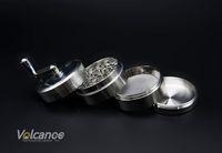 aluminum metal detector - Grinders mm CNC Aluminum space case herb grinder metal tobacco cigarette detector grinding smoke Tobacco grinder VS sharpstone grinder
