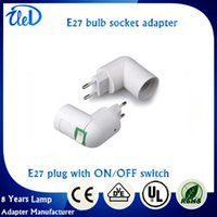 E27 ac plug switch - 2016 New style E27 plug with ON OFF switch EU standard AC power V E27 bulb socket adapter