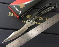 Wholesale Spyderco Szabofly Butterfly Knife Bali Flipper mm B03P THE ONE balisong butterfly knife C blade