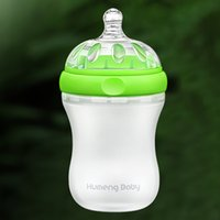 Wholesale Kumeng Baby Anti flatulence Extra Wide Neck Silicone Baby Bottle