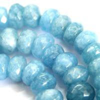 aquamarine gemstone beads - 5x8mm Faceted Natural Aquamarine Gemstones Loose Beads quot AAA