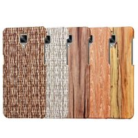 bamboo wood veneer - For OnePlus One Plus Three Woven Weave Wood Hard Leather Case Wooden Luxury Veneer Gluing Carbon Fiber Bamboo Phone Skin Cover